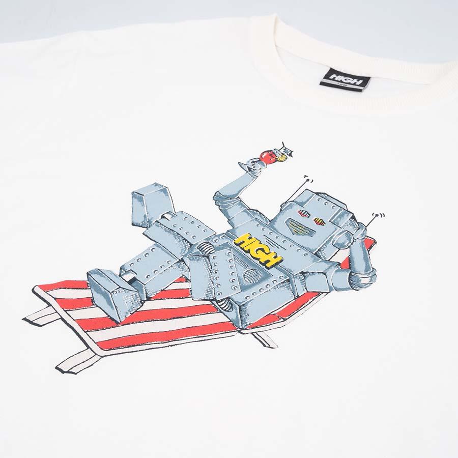 Camiseta High Tee Robot White