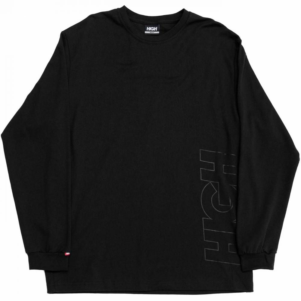 Camiseta HIGH Work Longsleeve Outline Logo Black