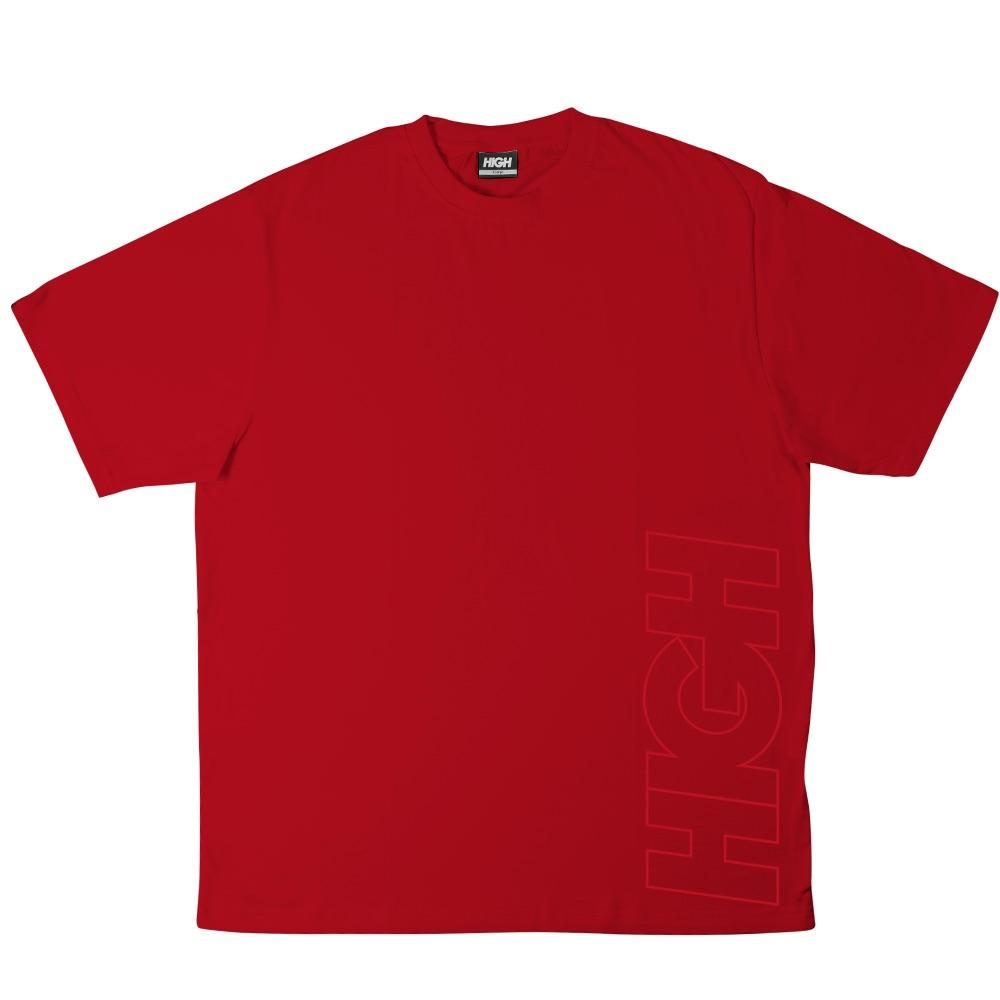 Camiseta HIGH Work Tee Outline Logo Red