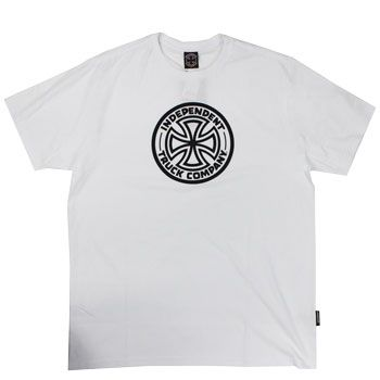 Camiseta Independent Cross Logo 1 Color White