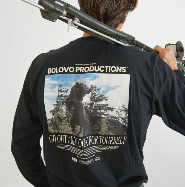 Camiseta Manga Longa Bolovo Wildlife Shirt Preto
