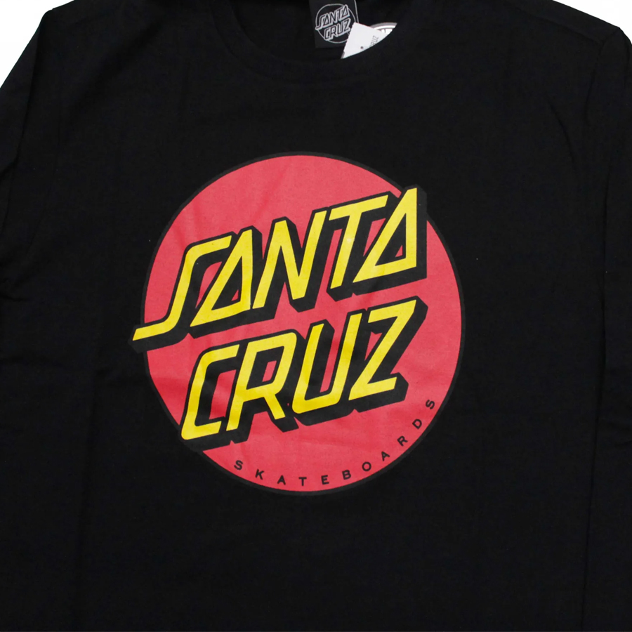 Camiseta Manga Longa Santa Cruz Classic Dot Front Preto