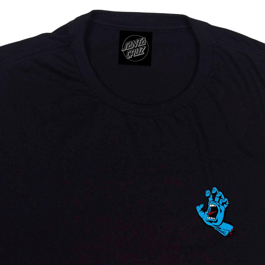 Camiseta Manga Longa Santa Cruz Screaming Hand Black