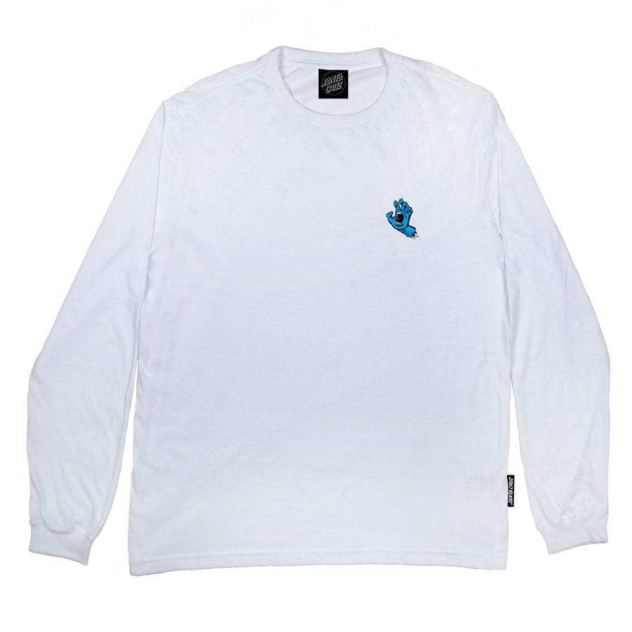 Camiseta Manga Longa Santa Cruz Screaming Hand White