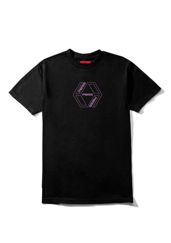 Camiseta Mess Losangulo Preta