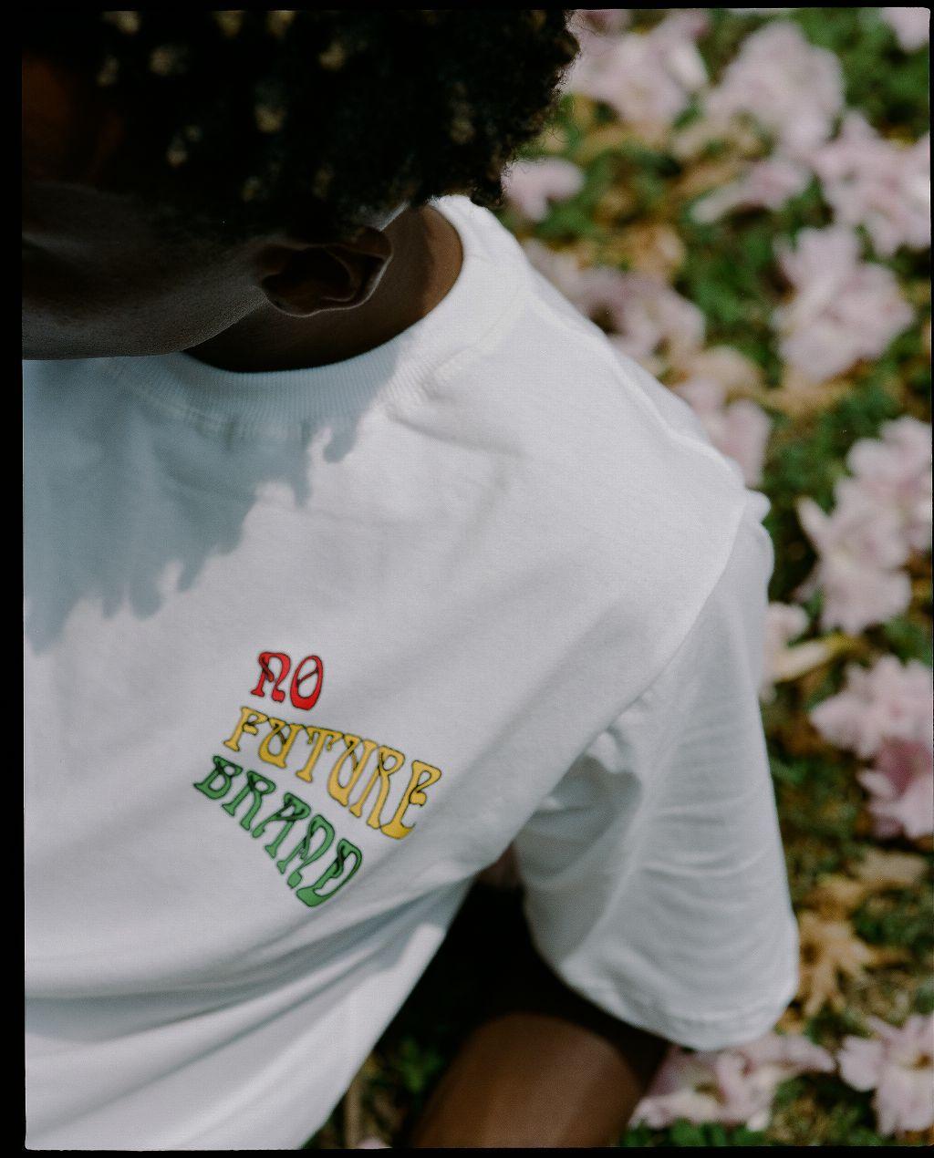 Camiseta No Future Reggae Branca