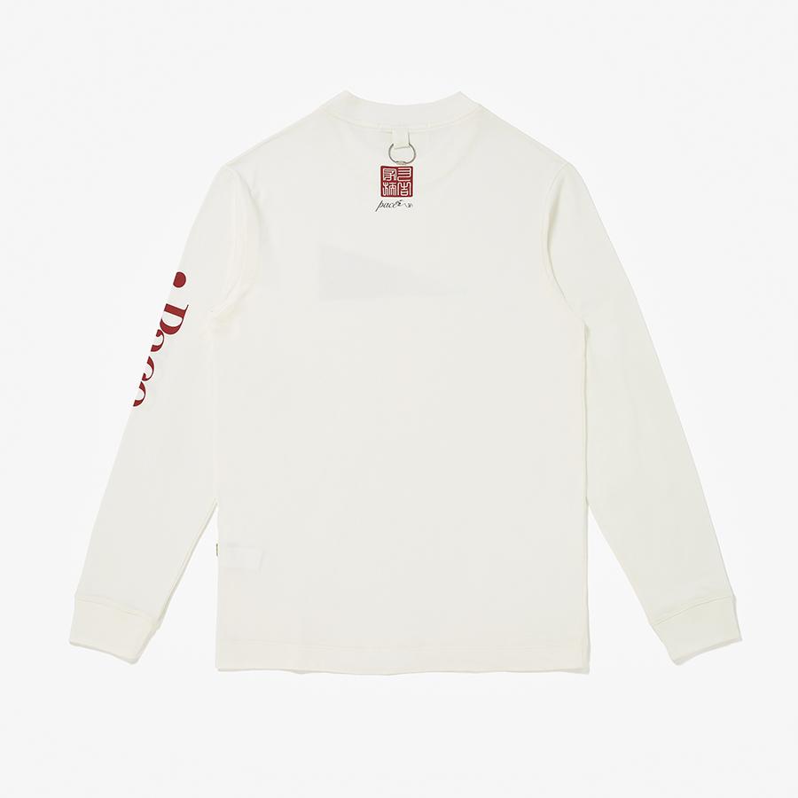 Camiseta Pace Longsleeve Signature Off White