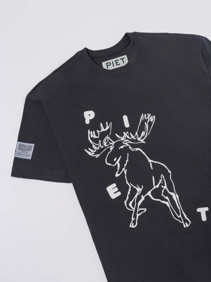 Camiseta PIET Moose T-shirt Cinza Escuro
