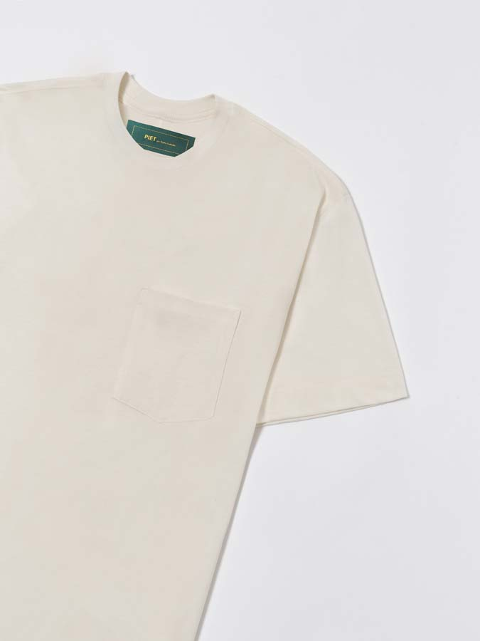 Camiseta PIET Pocket T-shirt Off White