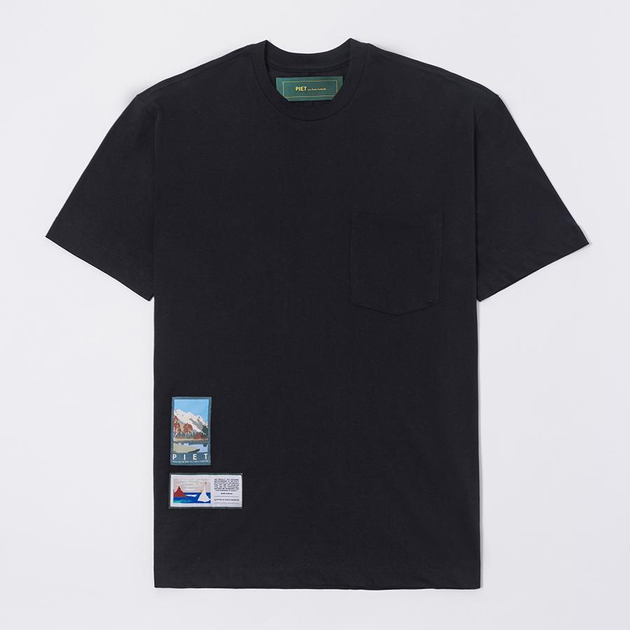 Camiseta PIET Pocket T-shirt Preta