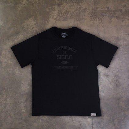 Camiseta Propriedade de Sigilo Preto