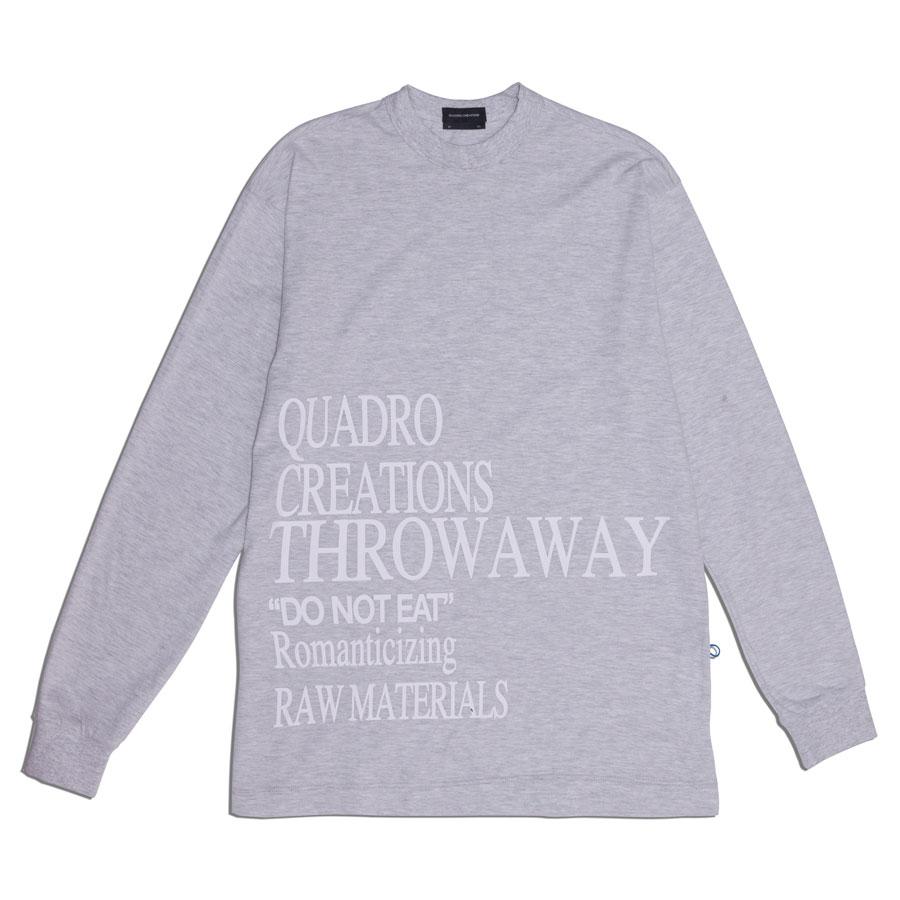Camiseta Quadro Creations Longsleeve Throwaway Grey