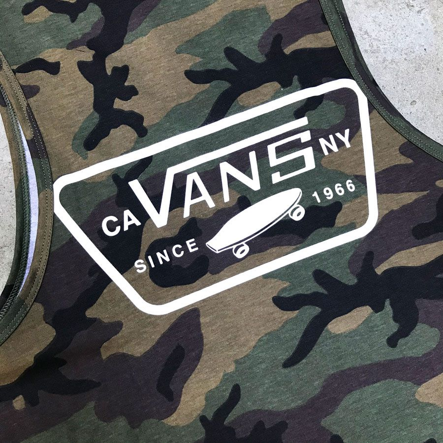 Camiseta Regata Vans Full Patch Tank Camo white