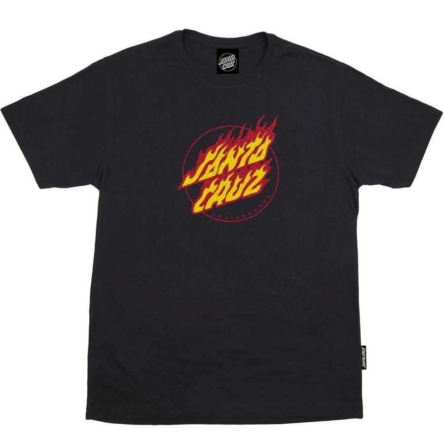Camiseta Santa Cruz Flaming Dot Black