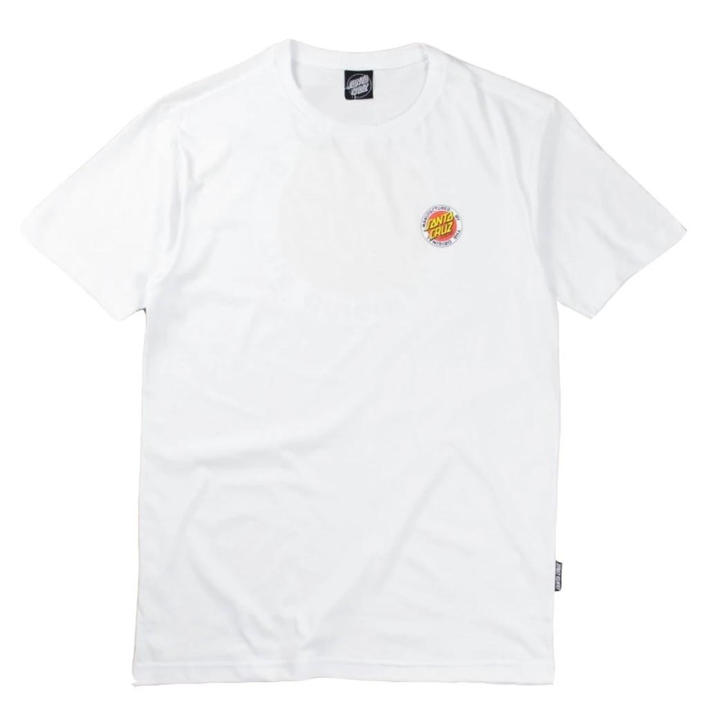 Camiseta Santa Cruz MFG Dot 2 White