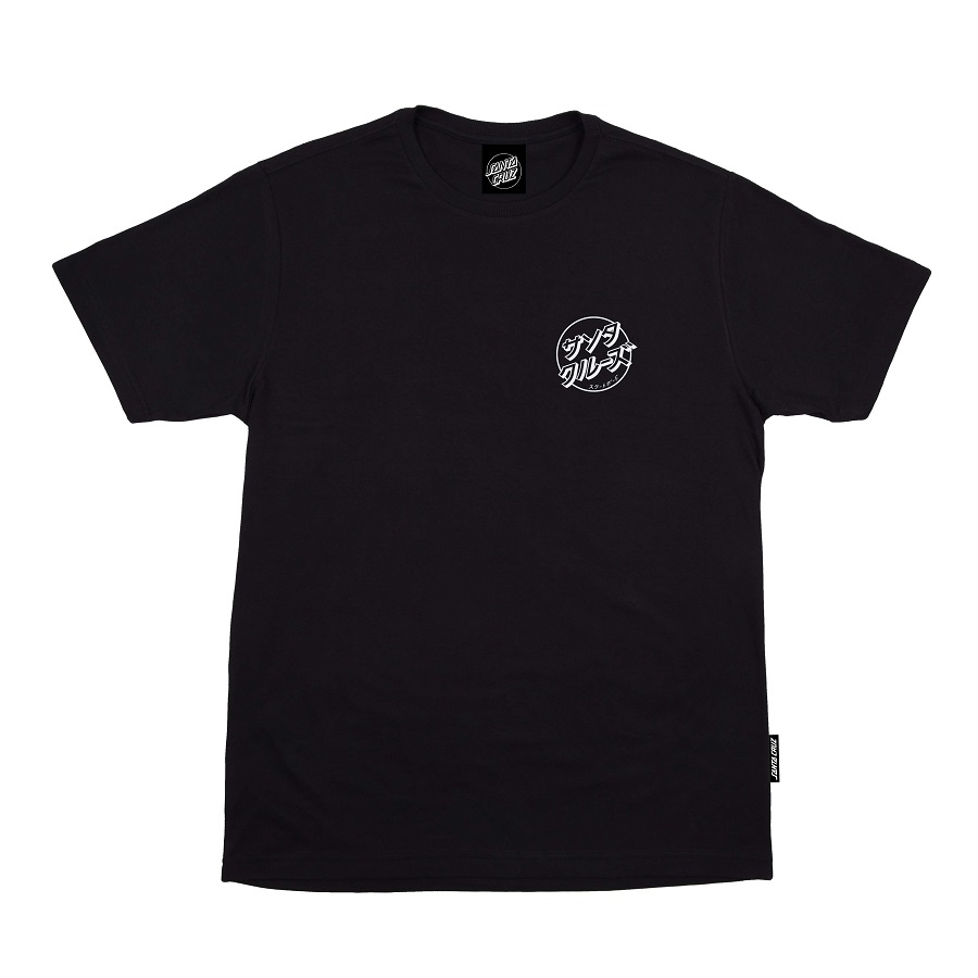 Camiseta Santa Cruz Off Hando Dot Preta