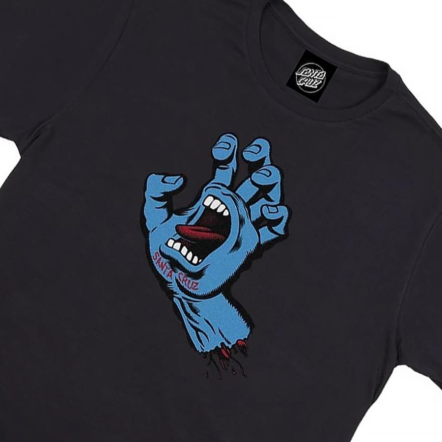 Camiseta Santa Cruz Screaming Hand Black/Blue