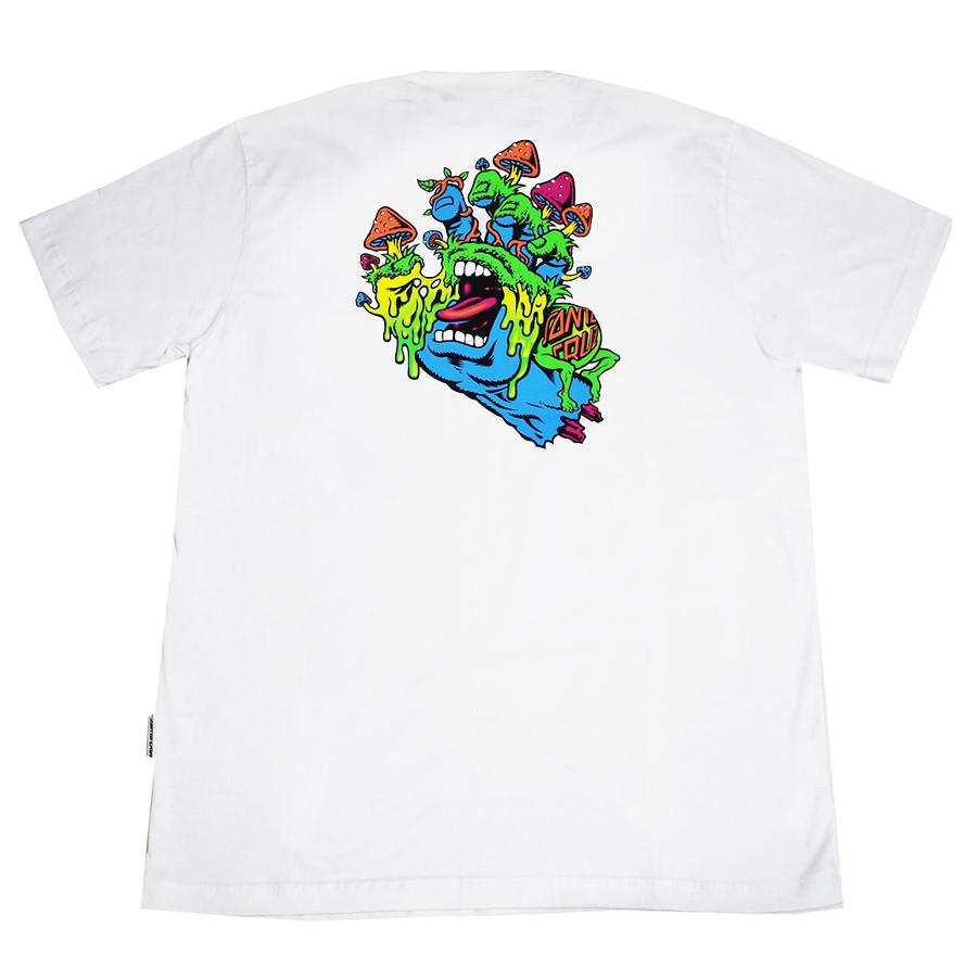 Camiseta Santa Cruz Toxic Hand White