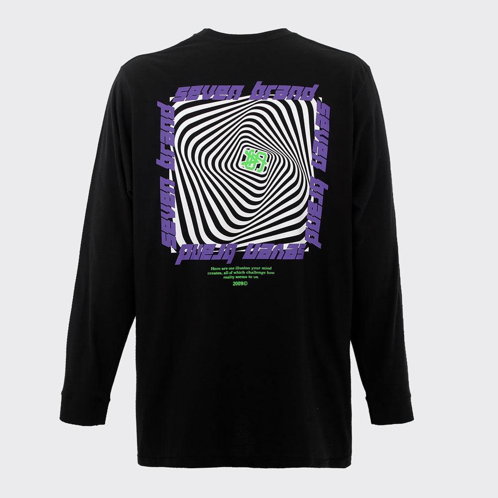 Camiseta Seven Longsleeve Ilusão Preta