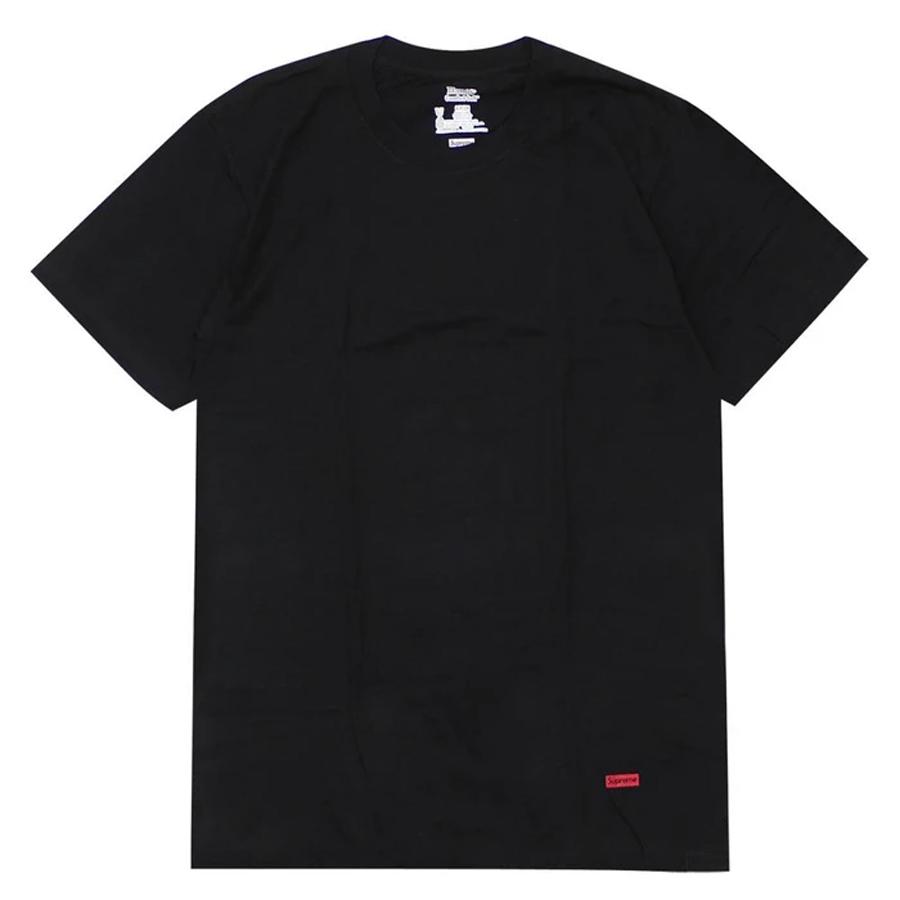 Camiseta Supreme Hanes Tagless Tee Black (unidade)