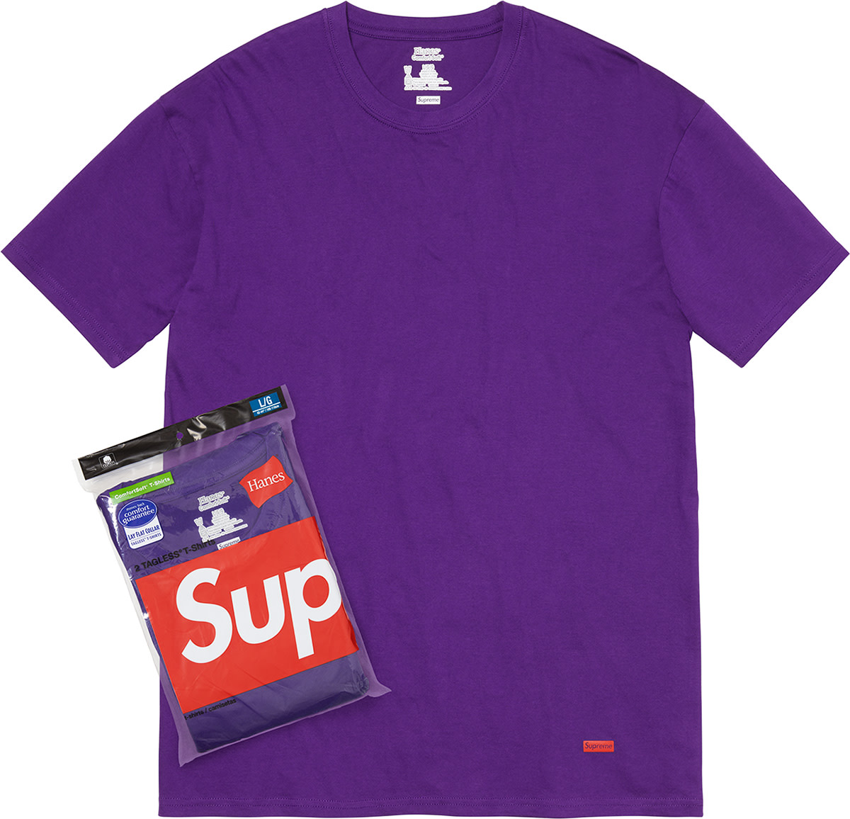 Camiseta Supreme Hanes Tagless Tee Purple (unidade)