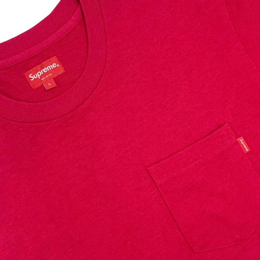 Camiseta Supreme Pocket Tee Cranberry
