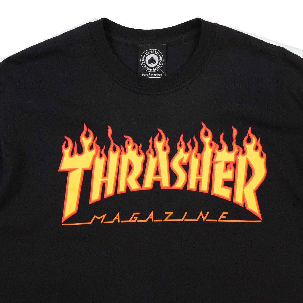 Camiseta Thrasher Flame Logo Black