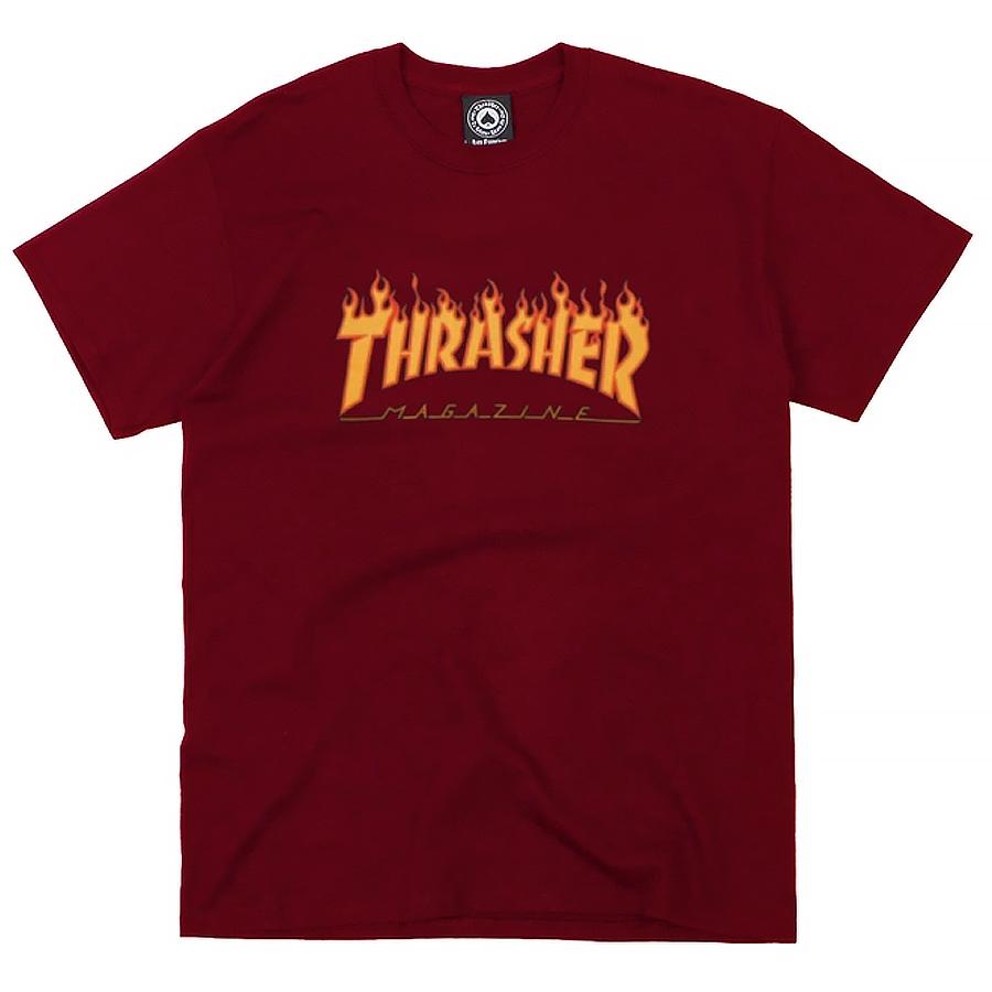 Camiseta Thrasher Flame Logo Bordô