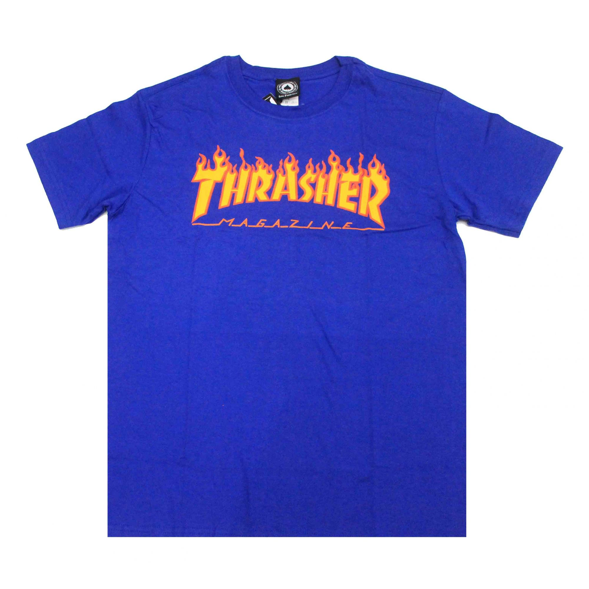 Camiseta Thrasher Flame Royal