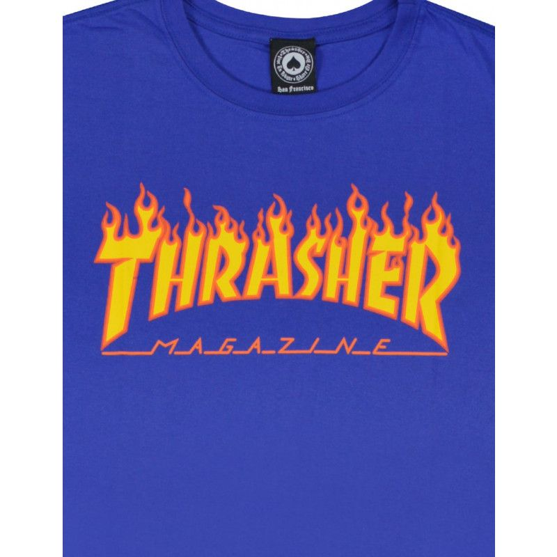 Camiseta Thrasher Flame Royal