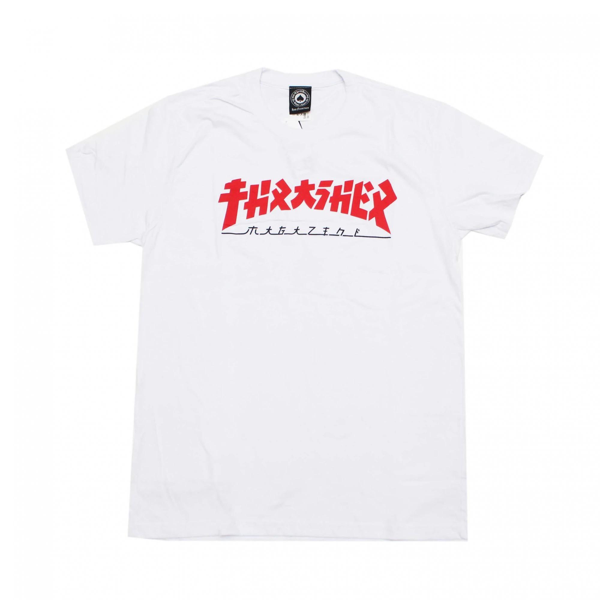 Camiseta Thrasher Godzilla White