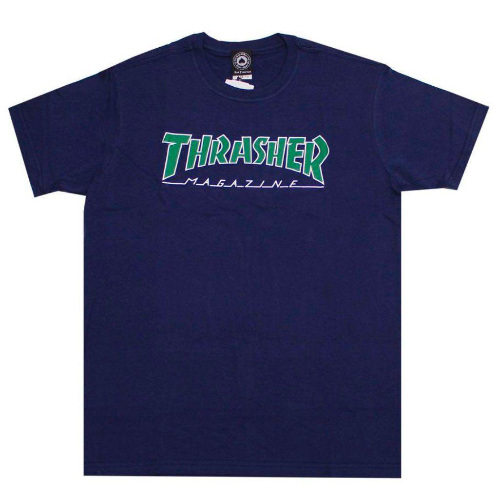 Camiseta Thrasher Outlined Marinho