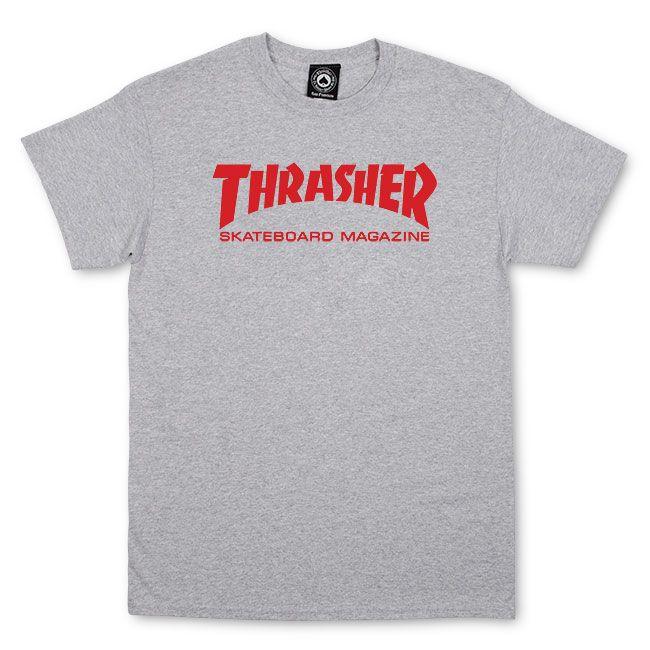 Camiseta Thrasher Skate Cinza Mescla