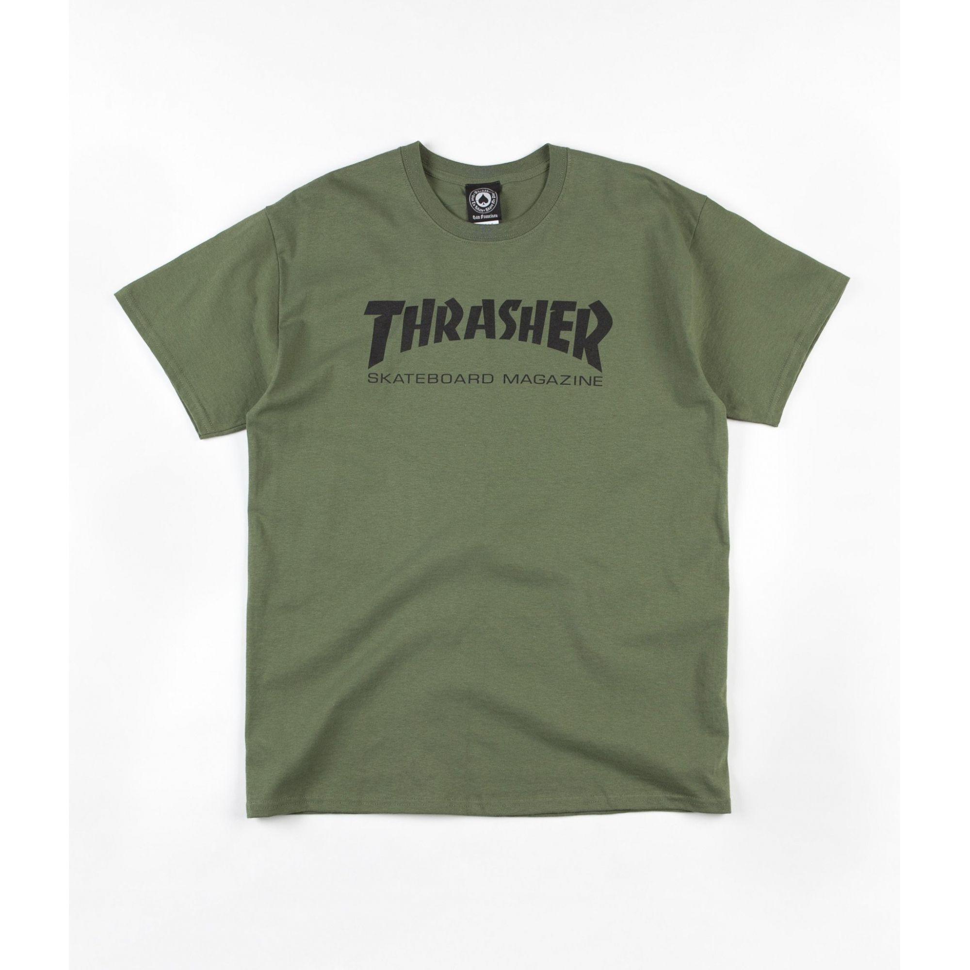 Camiseta Thrasher Skate Mag Green