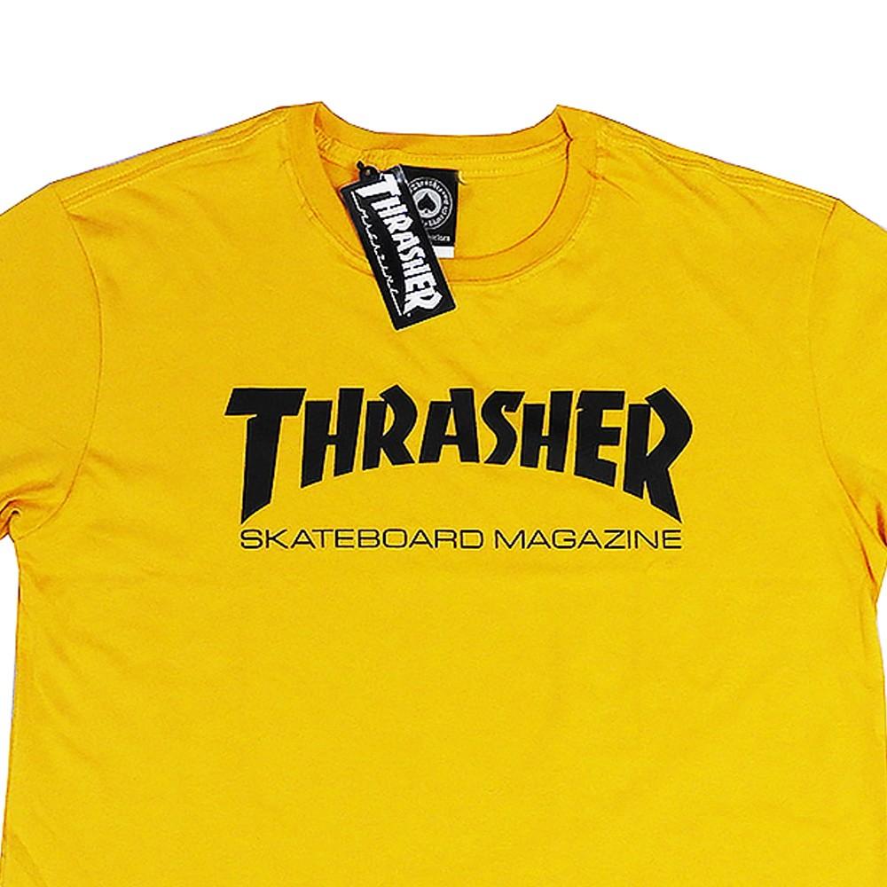 Camiseta Thrasher Skate Mag Mostarda