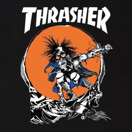 Camiseta Thrasher Skate Outlaw Black