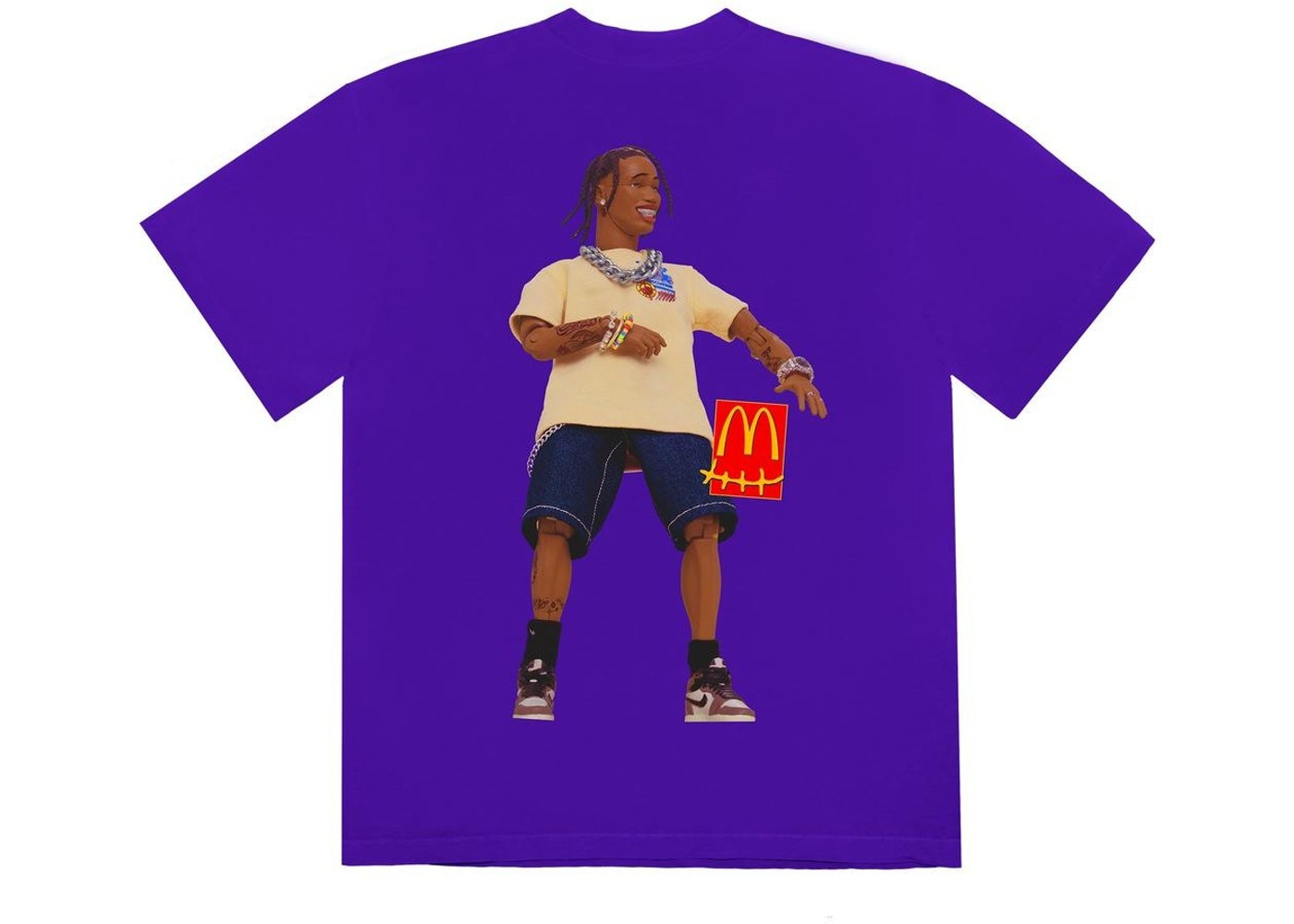 Camiseta Travis Scott x McDonald's Action Figure Series II Purple