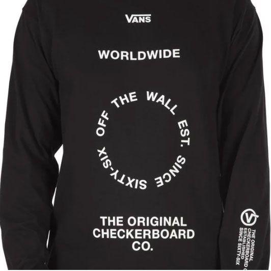 Camiseta Vans Wordwilde Longsleeve Black