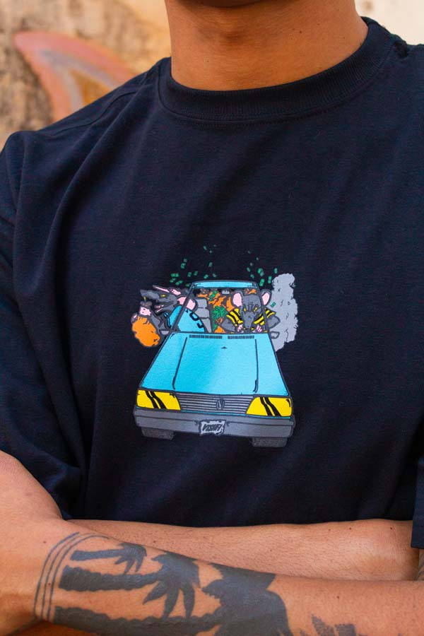 Camiseta Vishfi x Shu Volks Preta