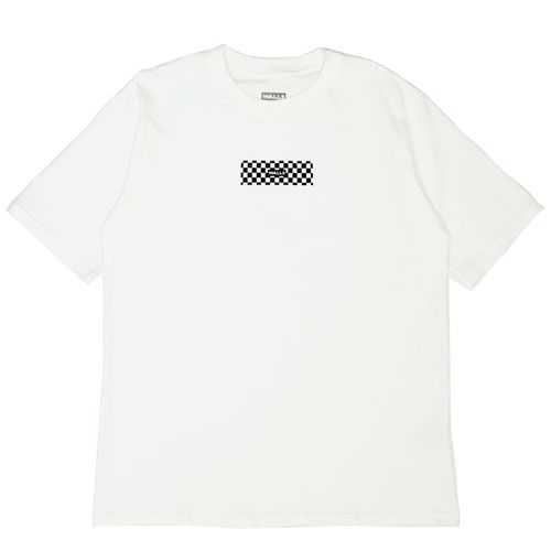 Camiseta WALLS Box Logo Checkerboard Branca