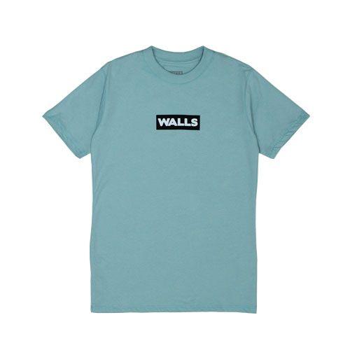 Camiseta WALLS Box Logo  OG Light Blue