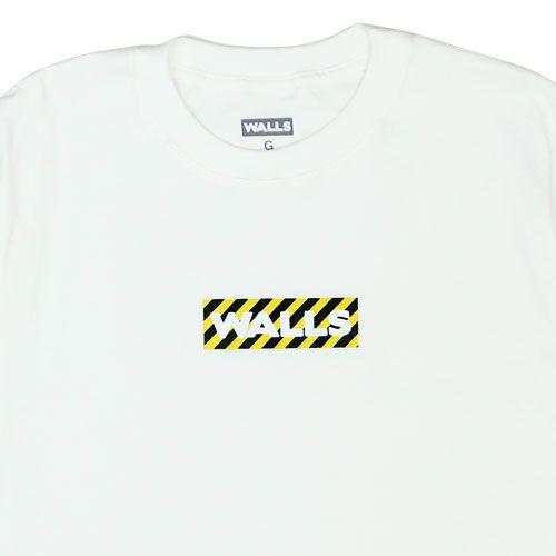 Camiseta WALLS Box Logo Stripes Branca