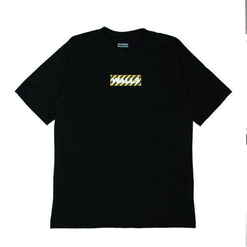 Camiseta WALLS Box Logo Stripes Preta