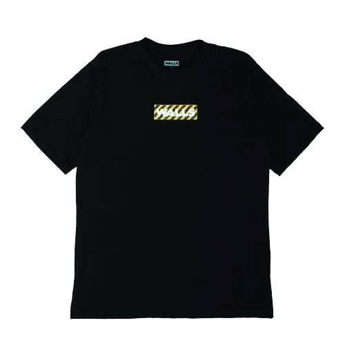 Camiseta WALLS Box Logo Stripes Preta