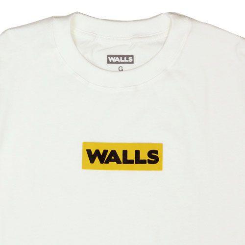 Camiseta WALLS Box Logo Yellow Branca