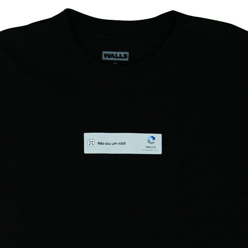 Camiseta WALLS Captcha Preta