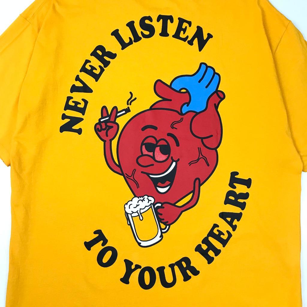 Camiseta WALLS Heart Yellow