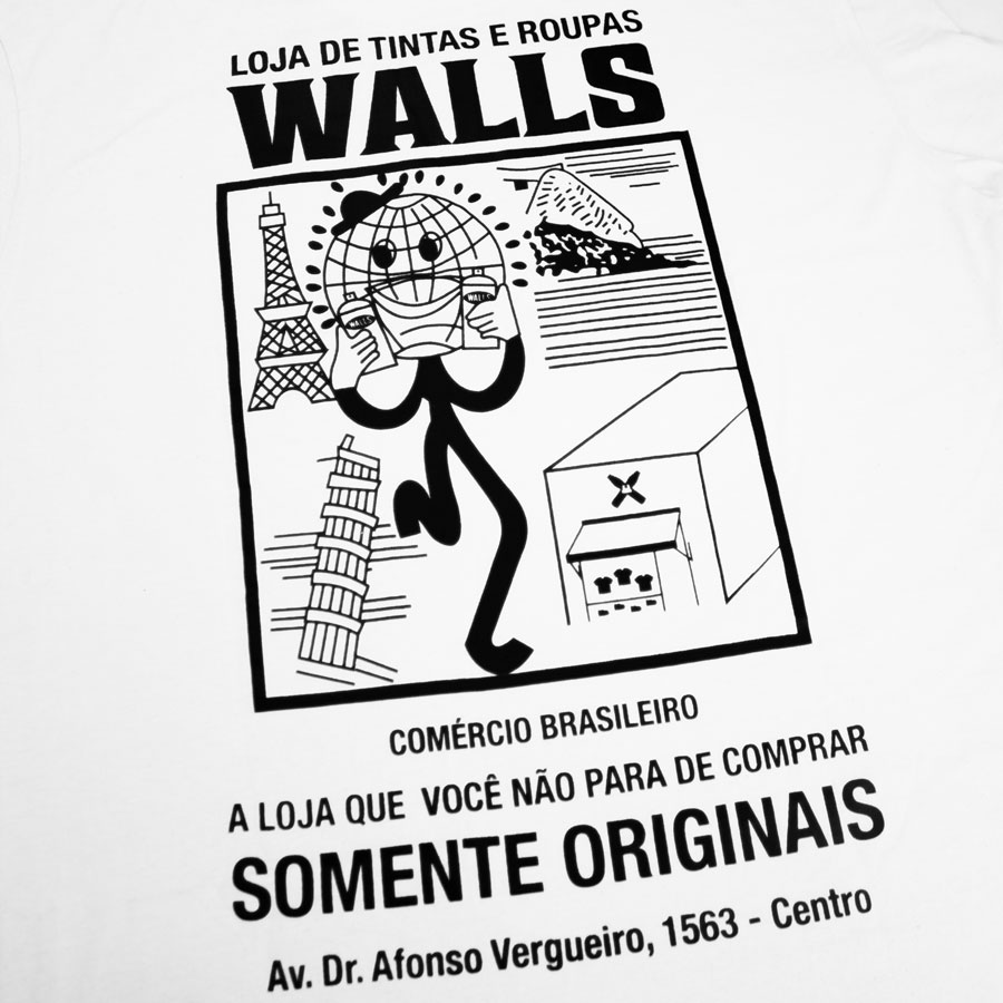 Camiseta WALLS Originais Off White