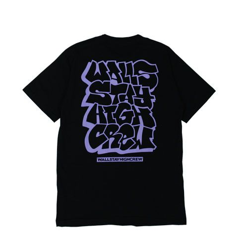 Camiseta WALLS x Stay High Crew Black