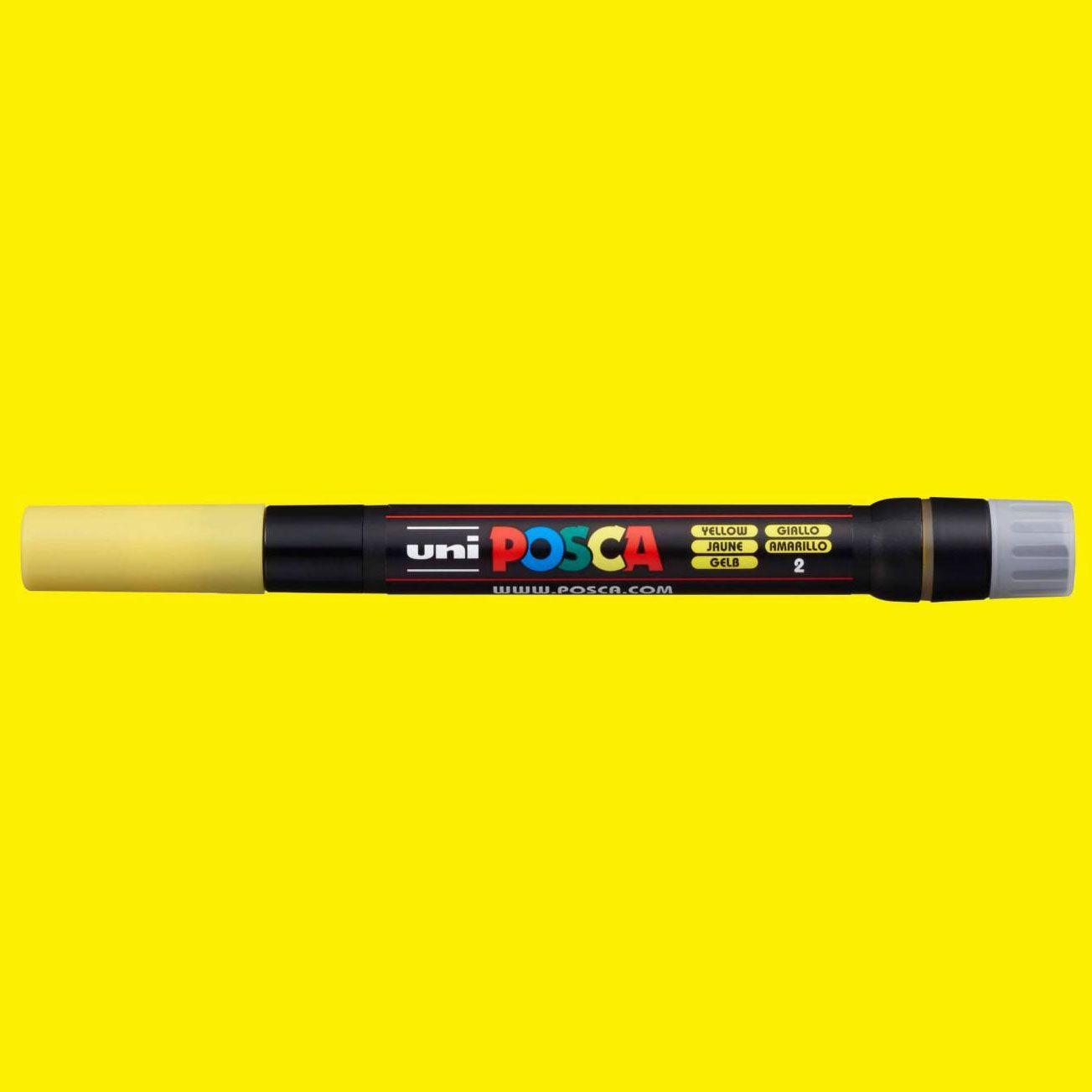 Caneta Posca Brush Posca PCF 350 Amarela